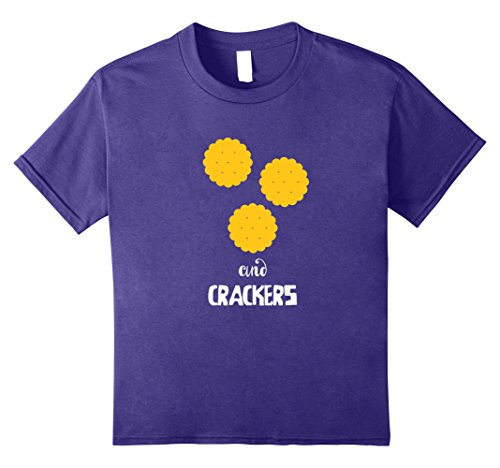 Silly Couple Halloween Costumes (Kids Crackers Couples Costume T-Shirt - Cheese and Crackers 8 Purple)