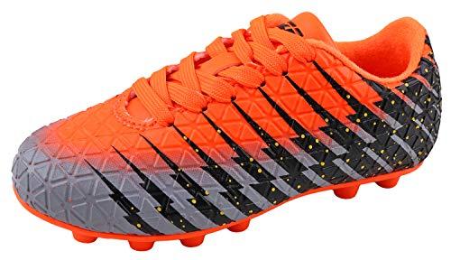 (Viazri Boy's Bolt FG Soccer Shoe Orange/Black/Silver 5.5 M US Big Kid)