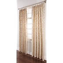 Stylemaster Renaissance Home Fashion Darby Pinch Pleated Drape Pair, 48 by 63-Inch, Ivory