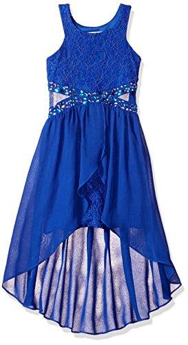 Tween Diva Girls' Big Hi Low Special Occasion Dress, Cut/Out, 8 ()