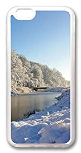 iphone 6 4.7inch Case and Cover White Snow Scenery TPU Silicone Rubber Case Cover for iphone 6 4.7inch Transparent