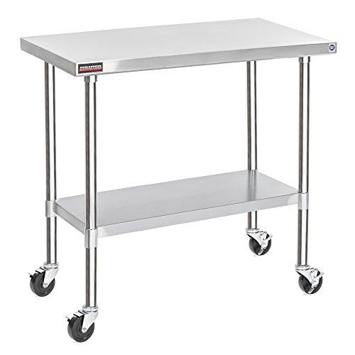 """DuraSteel 30"""" x 48"""" x 35"""" Height Worktable Stainless Steel F"""