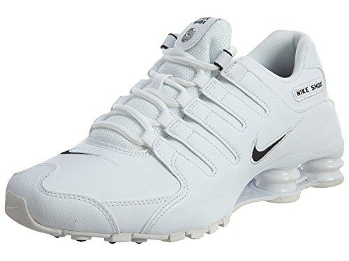 ffcf830b6c9 Galleon - Nike Men s Shox NZ Running Shoe White   Black - White - 8.5 D(M)  US