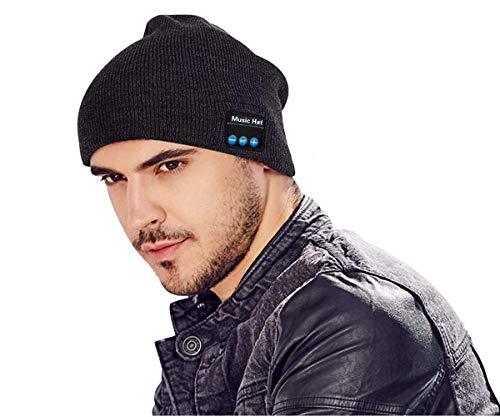 Winter Bluetooth Beanie Hat Unisex 4.2 Wireless Smart Musical Headphone Speaker Beanies Hands-Free Knit Cap Headset for Men Women Teen Boys Girl