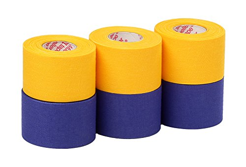 Mueller Athletic Tape Sports Tape, Gold and Blue 6 rolls