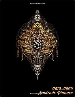 Amazon com: Academic Planner 2019-2020: Golden Alchemy Lotus