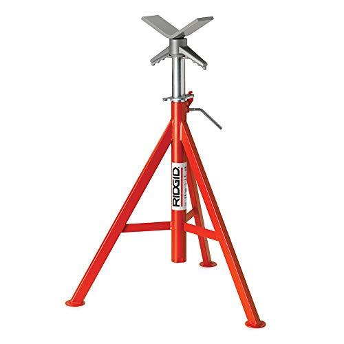 RIDGID 56662 Model VJ-99 V Head High Pipe Stand, 12-inch Pipe Stand
