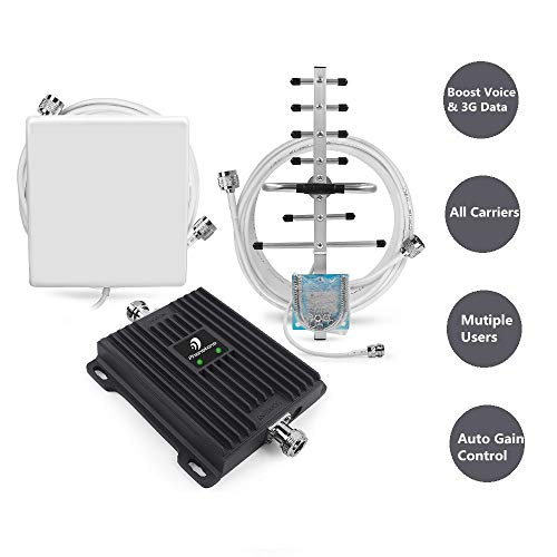 - Cell Phone Signal Booster for All Carriers GSM 3G Home and Office Use - Dual Band 850/1900MHz Band 2/5 Repeater with Panel/Yagi Antennas, Supports 4,500 Square Foot Area