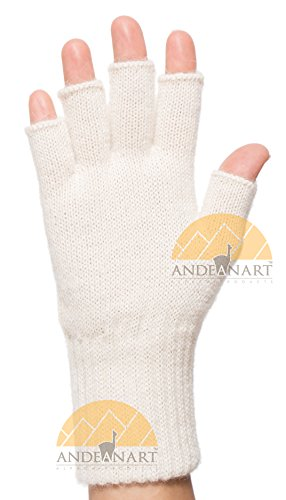 Tipless Gloves (FINGERLESS Classic Knit ALPACA GLOVES - GUARANTEED SOLUTION for COLD HANDS - World's Best Natural Thermal Management - ALOE Infused - Perfect for Comfortable TOASTY Home Time and OUTDOOR Activities)