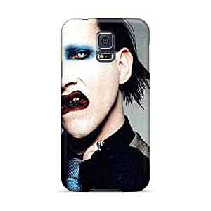 Shockproof Cell-phone Hard Cover For Samsung Galaxy S5 With Custom Nice Marilyn Manson Band Image AshleySimms