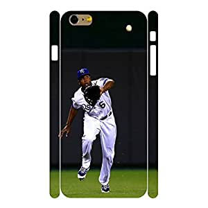 Retro Sports Series Designer Print Baseball Player Print Phone Shell Skin for Iphone 6 Plus Case - 5.5 Inch