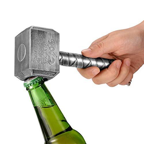 QZY Thor ' S Hammer Abrebotellas, Abridor De Botellas De Cerveza Vintage-Un Regalo De Navidad Sorprendente,Silver