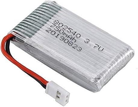 Justdodo Batería de lipo de 3.7V 750mAh para Syma X5C FPV RC Drone Repuestos Accesorios Reemplace Las baterías Recargables - Plata: Amazon.es: Juguetes y juegos