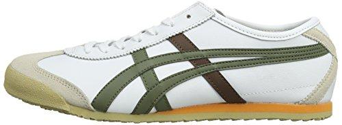 Asics olive Unisex Basse Ginnastica 66 Mexico Multicolore Da white 186 adulto Scarpe Sneakers ZTAwZqrS