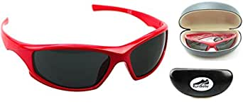 Running Sunglasses : Lightweight Sports Sunglasses for Men and Women – Best Sunglasses for Running, Cycling, Golf, Driving, Fishing & All Outdoor Activities (Apollo Red)