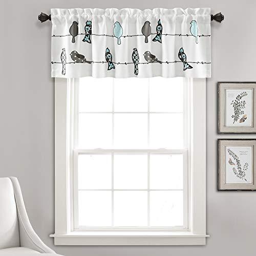 Lush Decor Rowley Birds Curtain Valance (Single Panel), 18