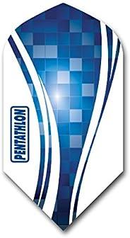 US Darts - 3 Sets (9 Flights) Pentathlon Vizion Slim Blue Dart Flights
