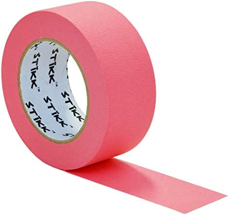 """2"""" inch x 60yd STIKK Pink Painters Tape 14 Day Easy Removal Trim Edge Finishing Decorative Marking Masking Tape (1.88 IN 48MM)"""