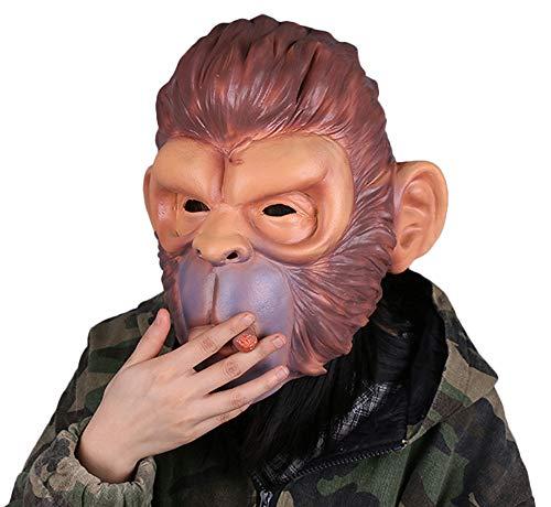 Shancon Smoking Monkey Orangutan Cosplay Face Mask Latex