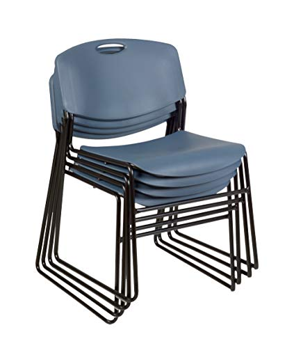 Zeng Stacking Chair - Regency 4400BE4PK Zeng Stack Chair (4 Pack), Blue