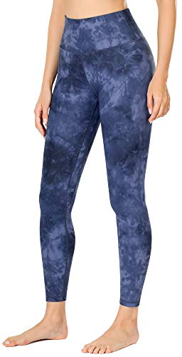 OVRUNS High Waist Printed Yoga Pants Workout Leggings for Women with Hidden Pockets