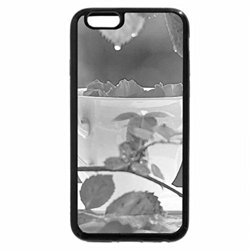 iPhone 6S Plus Case, iPhone 6 Plus Case (Black & White) - Rose Tea