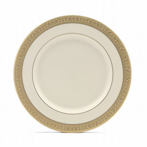 (Lenox Westchester Gold Banded Ivory China Dinner Plate)