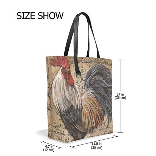 Cabas Unique Taille Femme Bennigiry Cock Pour Tote 001 Rooster ZxqAwqRf1