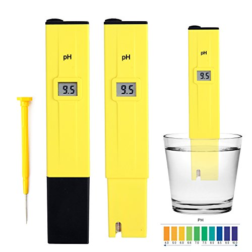 HOMPO Electric Pocket Digital Ph Meter Tester Hydroponics Pen Yellow