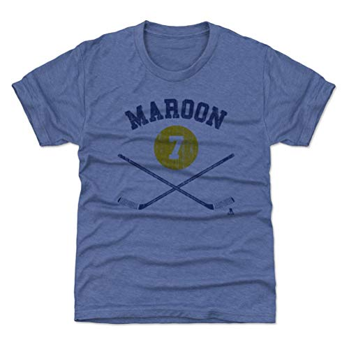 500 LEVEL Patrick Maroon St. Louis Blues Youth Shirt (Kids Small (6-7Y), Tri Royal) - Patrick Maroon St. Louis Sticks