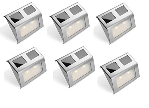 Bear Motion (TM) Solar Powered LED Light for Garden, Fence, Walkways Stairways, Path Pathway Lights - 6 Packs by Bear Motion