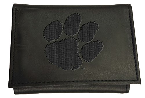 Team Sports America Leather Clemson Tigers Tri-fold Wallet