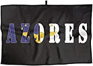 Letter Azores Flag Comfortable Golf Towel Gifts Towel for Biking Hiking Drying Sport Towel