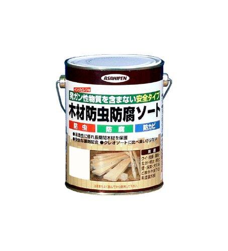 アサヒペン 木材防虫防腐ソート 1L 透明(クリヤ)
