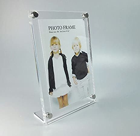 Amazon.com: (Pack/2units)L Style Acrylic Lucite Sign Display Frame ...