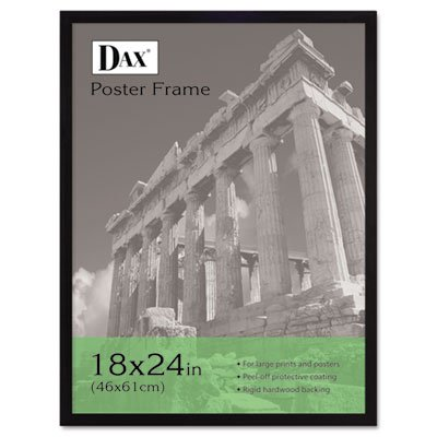 (Flat Face Wood Poster Frame, Clear Plastic Window, 18 x 24, Black Border (8 Pack))