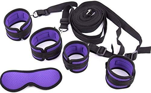 POPBBIE Soft Womens Bed Tied up Straps,Neoprene Padded Gym Set,Purple