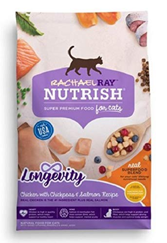 Rachael Ray Nutrish Natural Dry Cat Food (3 lbs, Chicken Chickpeas & Salmon Recipe)