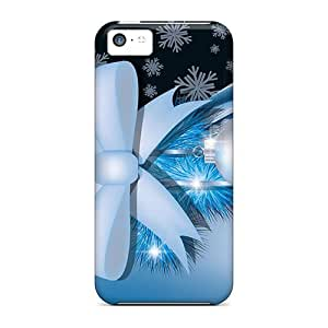 Durable Case For The Iphone 5c- Eco-friendly Retail Packaging(blue Christmas Decoration)