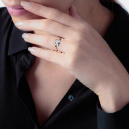 HISTOIRE D'OR - Bague Or et Diamant - Femme - Or 2 couleurs 375/1000