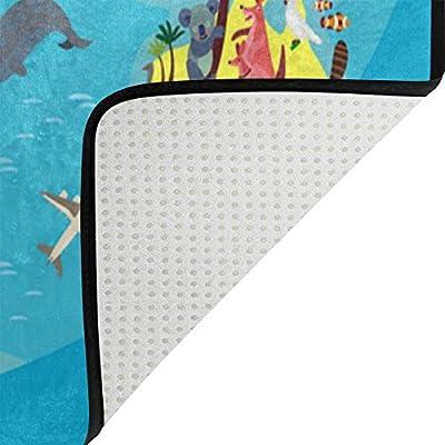 Motiv Weltkarte leicht Kinderzimmer-Teppich f/ür Wohnzimmer Schlafzimmer Spielmatte Orediy Gro/ße Schaumstoff-Teppich Multi Tiere Yogamatte f/ür Kinder 160 x 122 cm Polyester