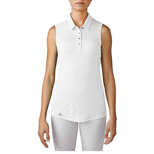 (adidas Golf Women's Golf Performance Polo Sleeveless T-Shirt, White, X-Large )