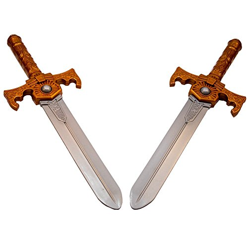 TukTek Kids First Set of 2 Pretend Toy Knight Swords for Boys & Girls]()