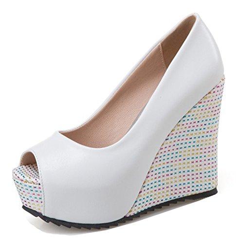 Aisun Donna Elegante Dressy Low Cut Slip On Scarpe Tacco Alto