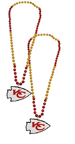 Official National Football League Fan Shop Authentic NFL Team Party Mardi Gras Custom Tailgate Beads 2-pack (Kansas City Chiefs) (Kc Chiefs Halloween)