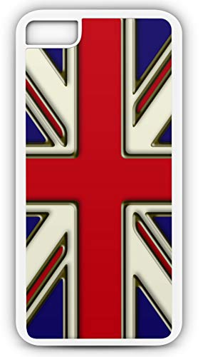 iPhone 8 Plus 8+ Case Union Jack Flag British England Monarch United Brexit Customizable by TYD Designs in White -