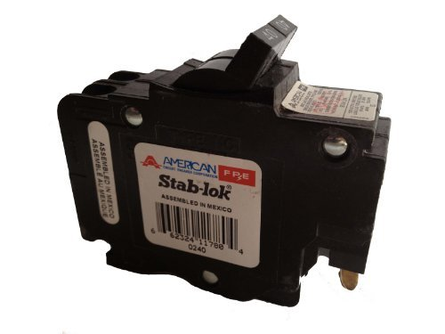 40a 2p Circuit Breaker - NC0240 FEDERAL PACIFIC FPE 40 AMP, 2 POLE, THIN CIRCUIT BREAKER FITS IN 1 BREAKER SPACE 40A 2P, NC240 STAB LOK 0240