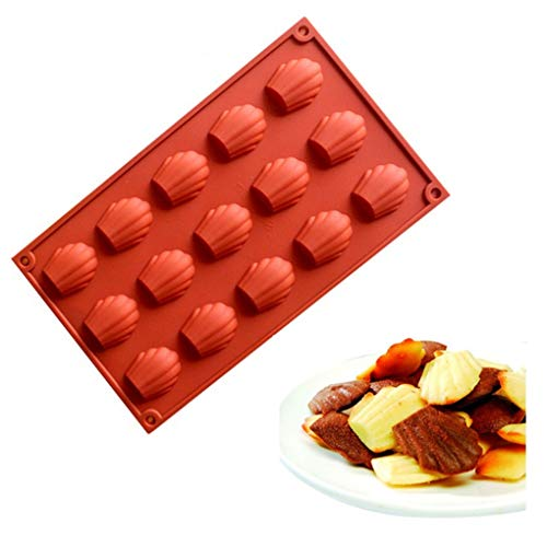 3D Silicone Cake Mold Mini Shells Madeleine Dessert Decorating Tools Mousse Chocolate Bakeware -