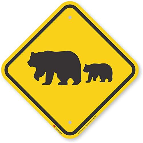 """Bear"" Crossing Sign By SmartSign | 12"" x 12"" 3M Engineer Grade Reflective Aluminum"