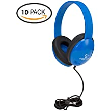 Heavy-Duty Kids' Headphone w/Tangle-Free Fabric Cord
